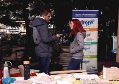 """Amélie interviewée par France Bleu dans le cadre de l'événement sur la coulée verte """"courses et commerçants"""""""